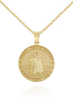 Belk & Co. 14K Gold Saint Christopher Medal Pendant