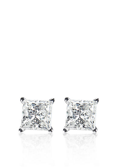Belk & Co. 1 ct. t.w. Princess Cut Diamond Stud Earrings in 14k White Gold