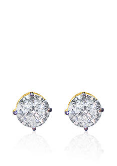 Belk & Co. 2.00 ct. t.w. Diamond Stud Earrings in 14k Yellow Gold