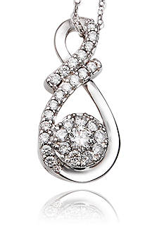 Belk & Co. 1/4 ct. t.w. Diamond Cluster Pendant in 10k White Gold