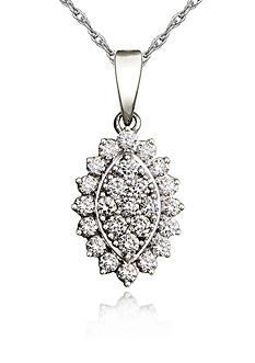Belk & Co. Diamond Pendant in 10k White Gold