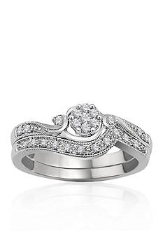 Belk & Co. 1/5 ct. t.w. Diamond Bridal Ring Set in 10k White Gold