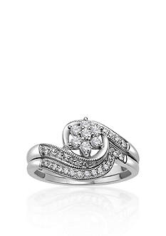 Belk & Co. 1/3 ct. t.w. Diamond Bridal Set in 10k White Gold
