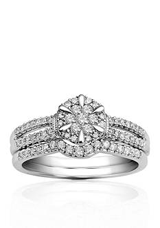 Belk & Co. 3/8 ct. t.w. Diamond Bridal Set in 10k White Gold