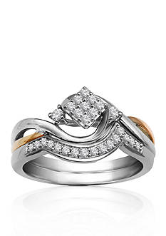 Belk & Co. 1/5 ct. t.w. Diamond Bridal Ring Set in Two Tone Gold