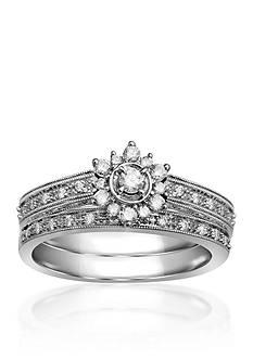 Belk & Co. 1/4 ct. t.w. Diamond Bridal Ring Set in 10k White Gold
