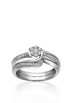 Belk & Co. Diamond Bridal Set in 10k White Gold