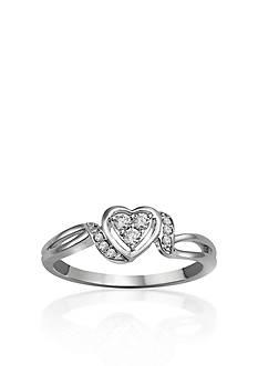 Belk & Co. Diamond Heart Promise Ring in Sterling Silver