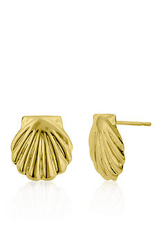 Belk & Co. 14k Yellow Gold Shell Stud Earrings