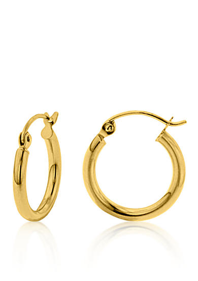 Belk & Co. 14k Yellow Gold Round 15mm Hoop Earrings