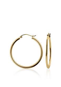 Belk & Co. 14k Yellow Gold High Polish Hoop Earrings