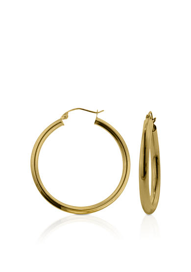 Belk & Co. 14k Yellow Gold 35mm Hoop Earrings