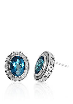 Belk & Co. Sterling Silver Blue Topaz Sparkle Earrings