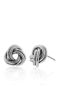 Belk & Co. Sterling Silver Love Knot Earrings