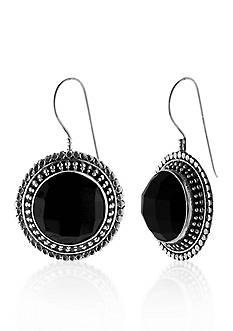 Belk & Co. Sterling Silver Black Onyx Earrings