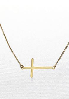 Belk & Co. 14k Yellow Gold Sideways Cross Necklace