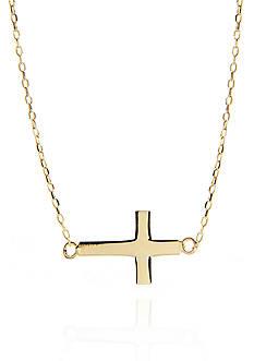 Belk & Co. 14k Yellow Gold Sideways Cross Pendant