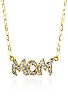 Belk & Co. 10k Yellow Gold Mom Sparkle Necklace