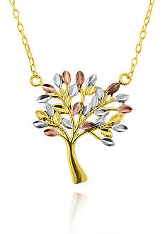 Belk & Co. 10k Tricolor Gold Tree of Life Pendant