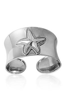 Belk & Co. Sterling Silver Starfish Sparkle Cuff