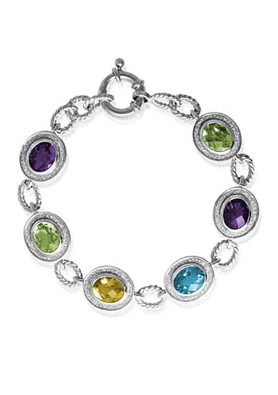 Belk & Co. Sterling Silver Multi Gemstone Sparkle Bracelet