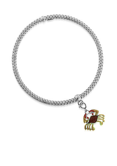 Belk & Co. Sterling Silver Crab Charm Braided Bangle