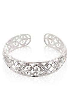Belk & Co. Sterling Silver Floral Cuff Bracelet