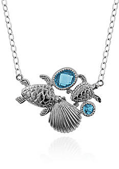 Belk & Co. Sterling Silver Blue Topaz Sea Life Necklace