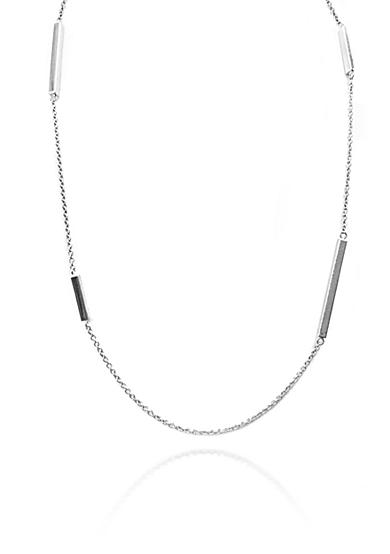 Belk & Co. Sterling Silver Tube Stations Necklace