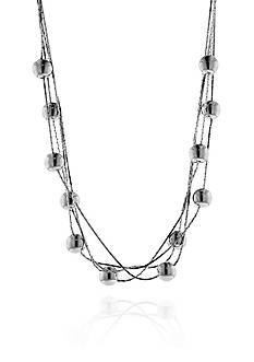 Belk & Co. Sterling Silver Beaded Multi Row Necklace