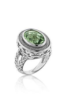 Belk & Co. Sparkle Boarder Oval Mint Quartz Ring