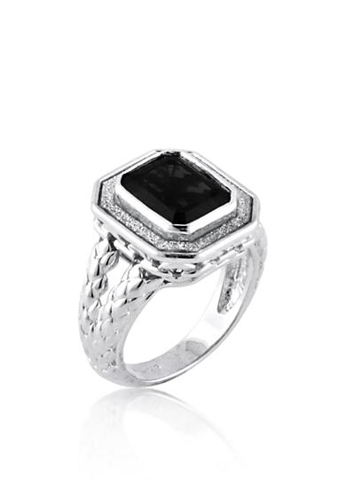 Belk co onyx ring in sterling silver belk for Belk fine jewelry rings