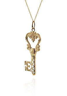 Belk & Co. 14k Yellow Gold Key Pendant