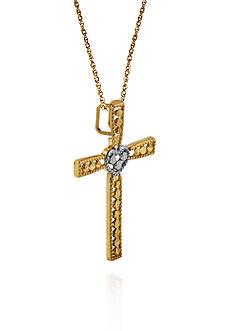 Belk & Co. 14k Two Tone Gold Cross Pendant
