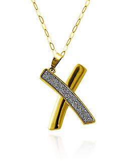 Belk & Co. 10k Yellow Gold X Sparkle Pendant