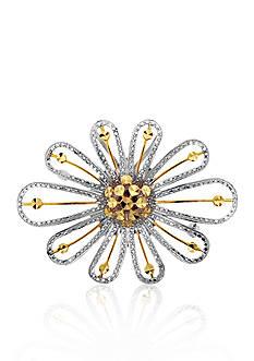 Belk & Co. 14k Two Tone Gold Flower Pin
