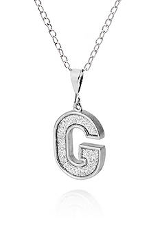 Belk & Co. Sterling Silver Glitter Initial G Pendant