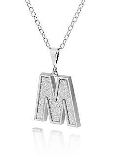 Belk & Co. Sterling Silver Glitter Initial M Pendant
