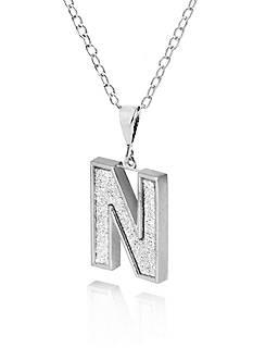 Belk & Co. Sterling Silver Glitter Initial N Pendant