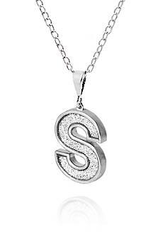 Belk & Co. Sterling Silver Glitter Initial S Pendant