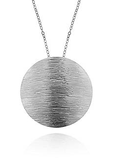 Belk & Co. Sterling Silver Brushed Circle Pendant