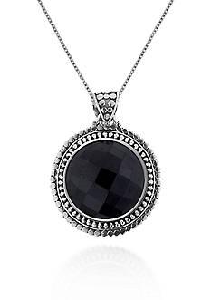 Belk & Co. Sterling Silver Onyx Pendant