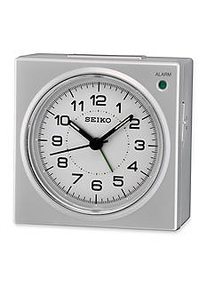 Seiko Silver Metallic Bedside Alarm Clock