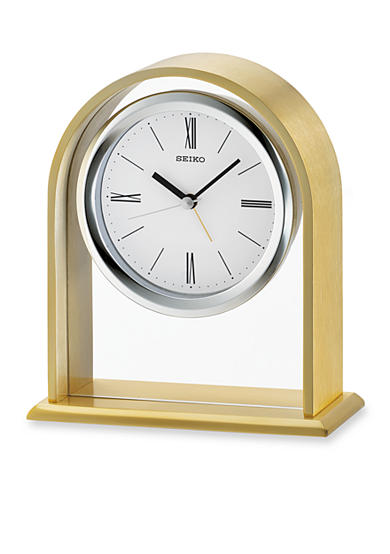 Seiko Gold-Tone Desk and Table Alarm Clock