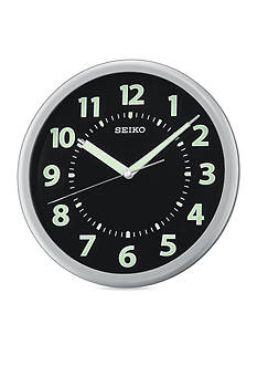 Seiko Silver Metallic Wall Clock