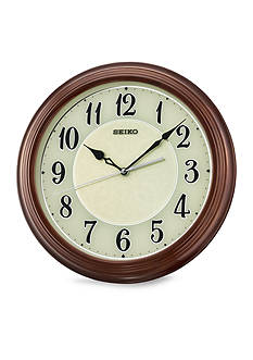 Seiko Brown Piano Finish Wall Clock