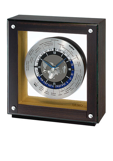 Seiko Dark Wooden Mantel Clock