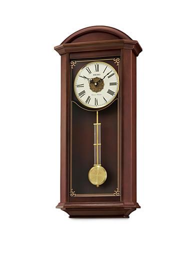 Seiko contemporary classics brown pendulum wall clock belk - Contemporary pendulum wall clocks ...