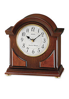 Seiko Brown Wooden Desk & Table Clock