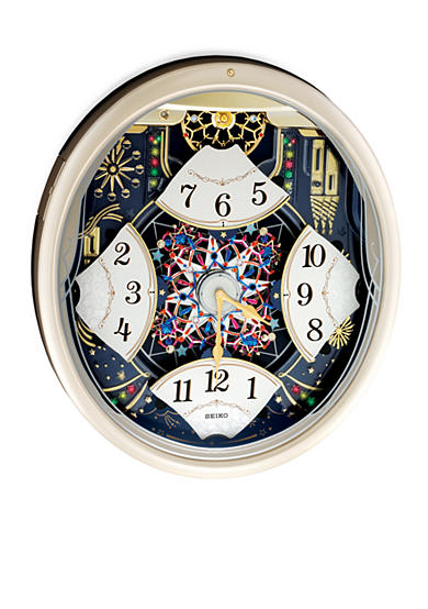 Seiko Silver Metallic Melodies In Motion Wall Clock